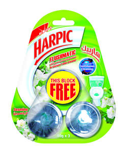 Harpic Flushmatic Jasmine Automatic Toilet Cleaner, Triple Pack 50g