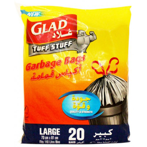 Glad Garbage Bag Large 70 X 81 Cm 20s