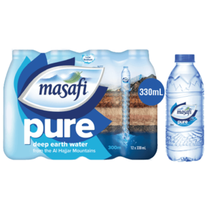 Masafi Pure Natural Water Low Sodium Shrink Wrap 12x330ml