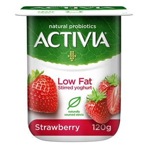 Activia Stirred Strawberry Low Fat Yoghurt 120g