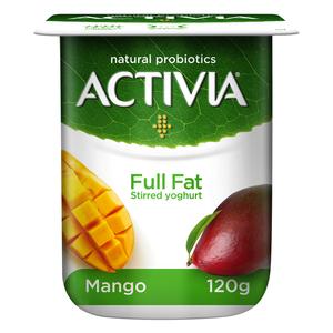 Activia Stirred Mango Full Fat Yoghurt 120g