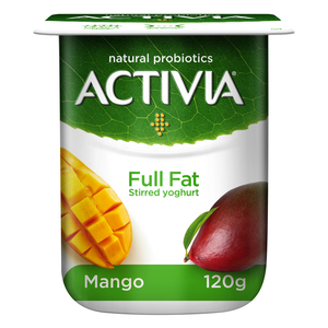Activia Mango Full Fat Stirred Yoghurt 120g