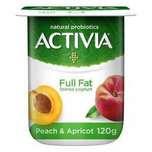 Activia Peach Apricot Full Fat Stirred Yoghurt 120g
