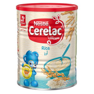 Nestle Cerelac Infant Cereals With Iron+ Rice Tin From 6 Months 400g