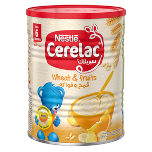 Nestle Cerelac Infant Cereals With Iron+ Wheat & Fruits Tin From 6 Months 400g
