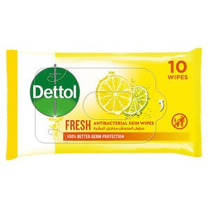 Dettol Fresh Anti-Bacterial Skin Wipes 10s