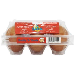 Saha Eggs Medium Brown 6pc