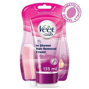 Veet In Shower Hair Removal Cream Suprem Essence 135g