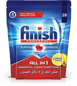 Finish Dishwasher Detergent Powerball Tabs Lemon 28s