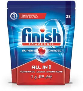 Finish Dishwasher Detergent All In One Tabs Original 28 S 28s