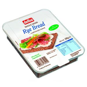 Delba Whole Grain Rye Bread 250g