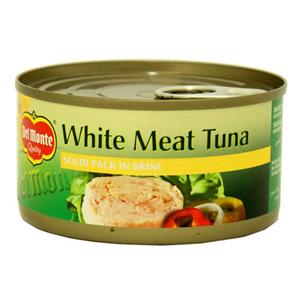 Del Monte White Meat Tuna Solid Pack In Brine 185g