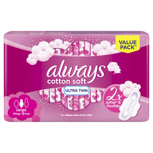 Always Ultra Cotton Soft Long Sanitary Pads 16 pcs