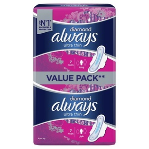 Always Ultra Diamond Sensitive Extra Long Sanitary Pads 14 pcs