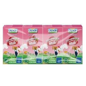 Lacnor Full Fat Strawberry Milk 6x125ml