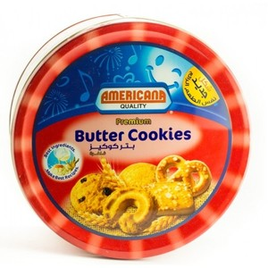 Americana Premium Butter Cookies Red Tins 454g