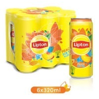 Lipton Ice Tea Can Peach 6x320ml