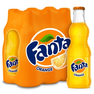 Fanta Orange Glass Bottle 6x250ml
