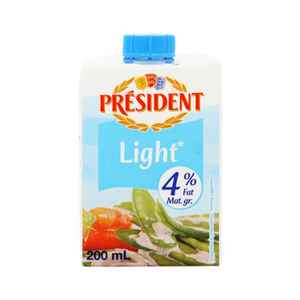 President Uht Cream Extra Light 200ml