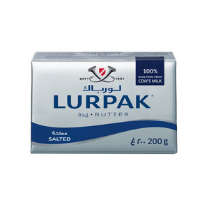 Lurpak Salted Butter Block 200g