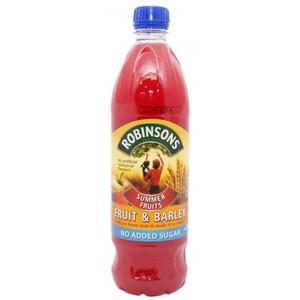 Robinsons Summer Fruit Barley No Added Sugar 1ltr