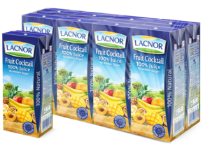 Lacnor Long Life Fruit Cocktail 8x180ml