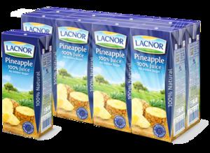 Lacnor Long Life Pineapple 8x180ml