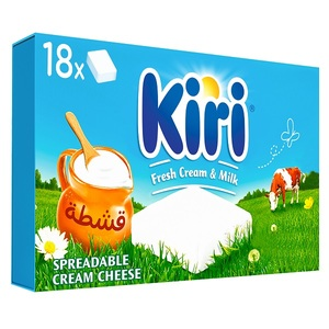 Kiri Spreadable Cream Cheese Squares 18x18g