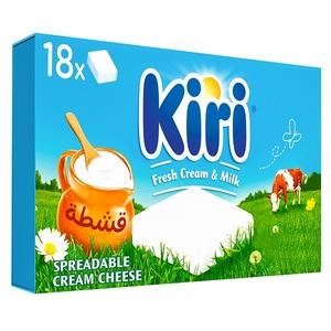 Kiri Spreadable Cream Cheese Squares 18x18g