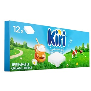 Kiri Spreadable Cream Cheese Squares 12x18g