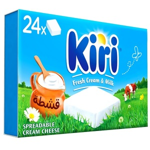 Kiri Spreadable Cream Cheese Squares 24x18g