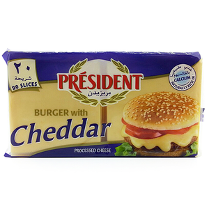President Burger Cheddar Cheese Slices 400g
