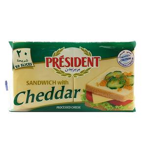 President Sandwich Cheddar Cheese Slices 400g