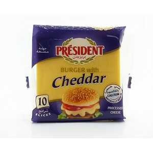President Slices Burger Cheddar 200gm