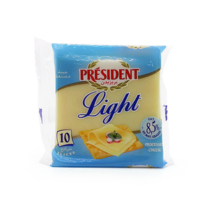 President Light Processed Cheese Slices 10pcs