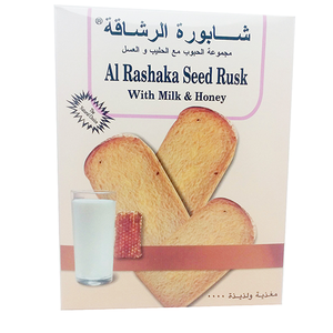 Al Rashaka Seed Rusk With Milk & Honey 420g