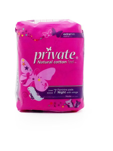 Private Night Feminine Pads With Wings 7pcs