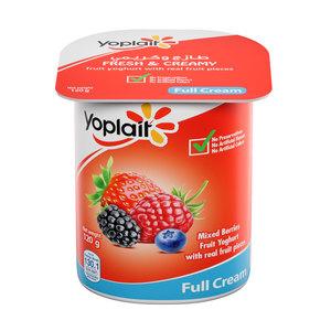 Yoplait Mixed Berries Full Fat Fruit Yoghurt 120g