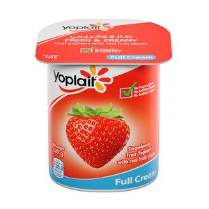 Yoplait Strawberry Full Fat Fruit Yoghurt 120g