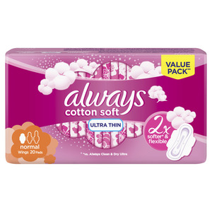 Always Ultra Cotton Soft Normal Sanitary Pads 20 pcs