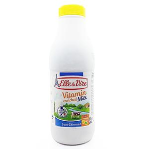 Elle & Vire Vitamin Enriched Semi Skimmed Milk 1L