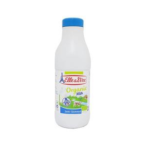 Elle & Vire Milk Uht Skimmed Organic Bottle 1L