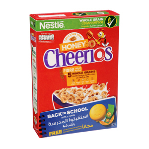 Nestle Honey Cheerios Breakfast Cereal 375g