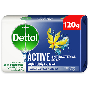 Dettol Active Anti-Bacterial Bathing Soap Bar Sea Minerals Fragrance 120g