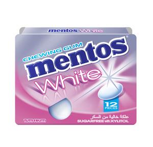 Mento White Chewing Gum Tutti Frutti Sugar Free 17g