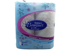 Sanita Bouquet Printed & Perfumed Toilet Rolls 4pc