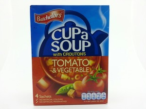 Batchelors Cup A Soup With Croutons Tomato & Vegetable Soup 4x26g
