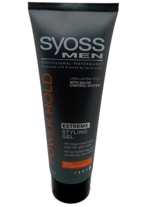 Syoss men extreme styling gel mega strong hold 250ml