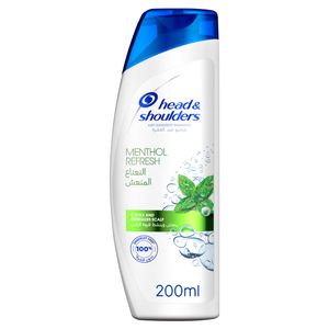 Head & Shoulders Menthol Refresh Anti Dandruff Shampoo 200ml
