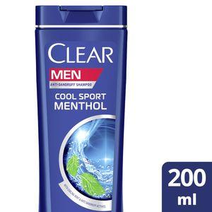 Clear Men's AntiDandruff Shampoo Cool Sport Menthol 200ml